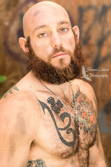 Model Josh (Shawn Collins Photography) Tags: model modeling malemodel male beard beards hairy hairymodel hairychest built tough rough masculine fit fitness fitnessmodel muscular shirtless arms abs chest men handsome eyes
