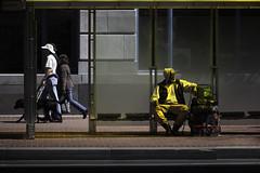 Metro (maxxsmart) Tags: 430 70200f4l bayarea california canon boots bricks busstopstreetphotography cig hoodie sanfrancisco smoke