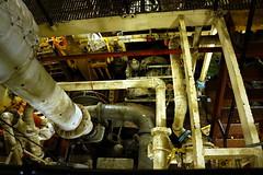Lightship Engine, Boston MA (Boston Runner) Tags: lightship nantucket lv112 boston harbor massachusetts 1936 shipyard marina eastboston museum preserved interior engine room pipes