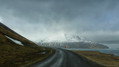 following the call of the North (lunaryuna) Tags: iceland northeasticeland leavingborgarfjordureystri road lonelyroad mountain spring season seasonalchange weathermood sky clouds moodyskies northatlantic coast seascape journey travel driving voyage ontheroad landscape lunaryuna