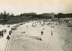 Looking North, Cronulla Beach, NSW (State Records NSW) Tags: archives staterecordsnsw newsouthwales blackandwhite beach cronulla summer