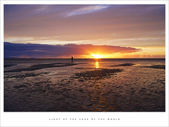 Light at the edge of the world (Parallax Corporation) Tags: crosby merseyside anotherplace antonygormley sunset