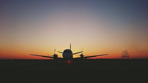 #plane #aircraft #airport #saab 340#Odessa