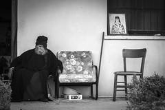 Sleeping pope (Ludovic Enkler) Tags: pope religion blackwhite canon 50mm f14 asleep monochrome icone orthodoxe cyprus agios theodoros