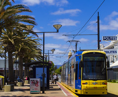 A tram awaits to depart from Moseley Square to Adelaide (|Sarah|) Tags: glenelg tram canon1200d canon photography southaustralia adelaide australia