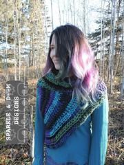 Huntress Cowl 01f (zreekee) Tags: sparkledoomdesigns saskatchewan handmade crochet canada rhiannon cowl hungergames