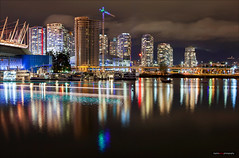 The Skyline Is Closing In (Clayton Perry Photoworks) Tags: vancouver bc canada fall autumn explorebc explorecanada night lights downtown outdoor falsecreek skyline reflections buildings