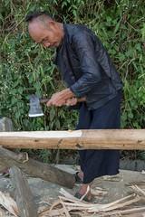 China - Basha Miao village, man (lukasz.semeniuk) Tags: china bashamiaovillage man basha miao miaoman