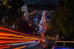 lombard express (pbo31) Tags: sanfrancisco california nikon d810 color night dark black october 2016 fall boury pbo31 urban city lightstream motion traffic roadway over russianhill lombardstreet marinadistrict red infinity