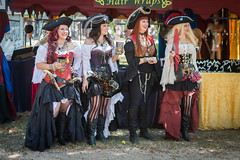 Pirate Ladies (Ron Scubadiver's Wild Life) Tags: texas renaissance festival girl woman costume cosplay outdoors nikon 50mm hat boots pirates group