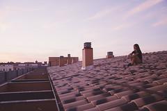 V (Rubn T.F.) Tags: portrait summer girl woman beauty sunset roof pretty cute