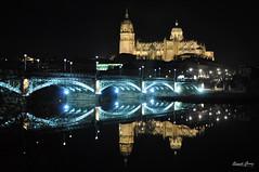 Reflejos (R.Gmez) Tags: salamanca puente birdge catedral noche reflejos nocturna