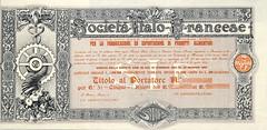 ITALO-FRANCESE PER LA FABBR. ED ESP. DI PRODOTTI ALIMENTARI SOC. (scripofilia) Tags: 1922 alimentari azioni esportazione fabbricazione francese italo italofrancese prodotti prodottialimentari