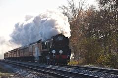 Blackwater 29 November 2016 031 (paul_appleyard) Tags: frosty morning 34052 lord dowding steam dreams cathedrals express blackwater hampshire november 2016 full ahead locomotive
