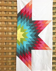 My Uppercase Eight Pointed Star quilt so far! (misslizzie1960) Tags: quilt quilting eightpointedstar patchwork uppercase patchworkfabric colourful