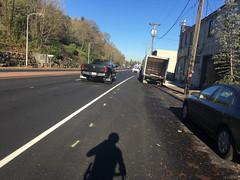 New striping on Highway 30-2.jpg (BikePortland.org) Tags: bikelanes dirty30 highway30