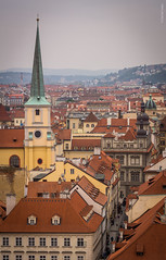 Somewhere in Prague (dlerps) Tags: czech czechrepublic daniellerps prague praha sonyalphaa77 lerps prag tschechien sony sonyalpha sigma a77 sonyalpha77 sonya77 europe europa bohemia bohemian malastrana lessertown street church road tower churchtower buildings houses rooftop roof architecture