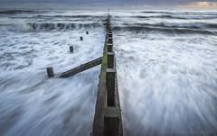 Ebb & Flow.. (LoneWolfA7ii) Tags: tide ebbandflow outdoor north sea aberdeen scotland water blue groyne waves sony a7ii seaside beach shore seascape