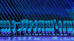 Blue Notes (dejavue.us) Tags: lightpainting nikon desert piano vle hammers nevada mojavedesert longexposure blue abandoned fullmoon 28300mmf3556gvr nikkor nightphotography d800 strings
