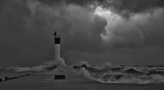 November Gale (evanlochem) Tags: great lakes autumn fall november gale storm high wind surf waves seiche lake huron blue flag beach grand bend ontario canada