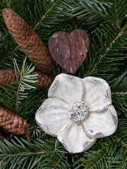 drauen Adventdeko (gartenzaun2009) Tags: herz deko zapfen tannengrn advent weihnachten