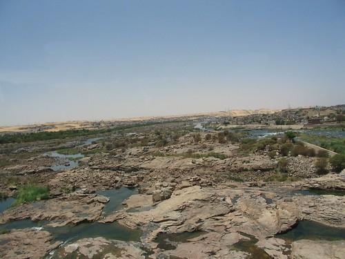 Der Nil unterhalb des Assuan-Staudamms Mai 2006
