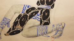 Léon Bakst : Costume de Vaslav Nijinski. (Anne-Christelle) Tags: costume dessin narcisse léonbakst opéragarnier paris crayon gouache aquarelle sandales shoes art exposition france
