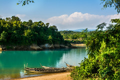 Blue River (Rafio Islam) Tags: blue river riverbank lalakhal bangladesh sylhet sylhetbangladesh boat boatriver bluesky bluewater tree green greenery