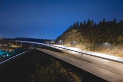 Convergence (Cody Schroeder) Tags: road longexposure bridge summer night washington highway spokane f2 12mm eastern development 395 samyang mirrorless rokinon