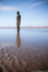 Gormley-3 (RJ Photographic) Tags: sunset sea sculpture seascape water out rj place tide photographic another lowtide anthonygormley 2015 leefilters