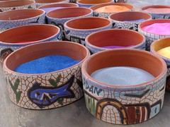 AQABA - Coloured Sand Pots (LEO-ONE) Tags: world city sunset red sea people sun colour beach dead boat lawrence sand war ship gulf desert flag redsea wwi middleeast mosque east jordan pot arab arabia flagpole middle coloured deadsea jordanian aqaba giordania العقبة‎