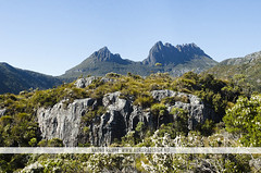 Cradle Mountain, Tasmania (Naomi Rahim (thanks for 2 million hits)) Tags: travel blue summer sky mountain mountains green nature landscape nikon rocks peak australia hike trail tasmania peaks cradlemountain 2015 travelphotography nikond7000 naomirahim