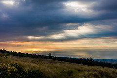 Kekaha Kai State Park Sunset, Big Island - 6 (www.bazpics.com) Tags: ocean park sunset sea usa cloud sun color colour tree beach rock stone clouds america island hawaii lava coast us moss big unitedstates state pacific horizon kai coastline hi bigisland kailuakona kekaha