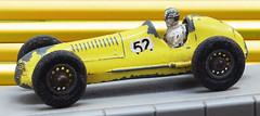 Matchbox #52 Maserati 4CLT -505 (Gilles_Ollivier_GeO) Tags: old 1948 car yellow jaune toy miniature play worn figure driver citron maserati moko matchbox diecast lesney