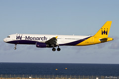 Monarch Airlines A321-200 G-ZBAJ (birrlad) Tags: airplane islands airport aircraft aviation ace airplanes lanzarote landing finals airline monarch airbus canary arrival airways approach airlines runway airliner arrecife arriving a321 a321231 a321200 gzbaj
