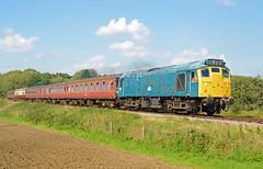 25057 Crownthorpe 11/09/15 (rhayward92) Tags: br norfolk rail railway class 25 british mid mnr 25057 crownthorpe