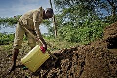 Following Harerimana Sebihogo, a refugee and his family who settled in Rwamwanja site. (( Voice Nature. )) Tags: construction uganda centralafricaandthegreatlakes congoleserefugees westernuganda rwamwanja