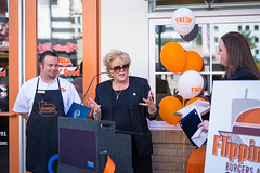 20151008-FlippinGood-08 (clvpio) Tags: vegas october downtown mayor lasvegas good burger event opening flipping goodman 2015