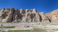 The four kings (tmeallen) Tags: panorama iran unescoworldheritage rockcarvings limestonecliffs dariusi dariusii naqsherostam artaxerxesi xerxesi sassanidbasreliefs marvdahst