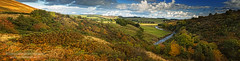 Upper Coquet Panorama (Chris Lishman) Tags: autumn panorama river landscape countryside colours northumberland coquet alwinton lishman coquetriver chrislishman chrislishmanphotography