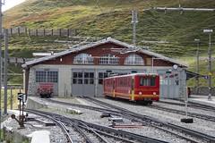 JB The depot at Kleine Scheidegg. (Franky De Witte - Ferroequinologist) Tags: de eisenbahn railway estrada chemin fer spoorwegen ferrocarril ferro ferrovia