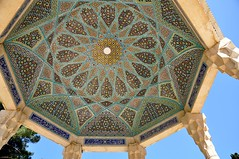 Patterns of Tomb of Hafez (kineky1) Tags: blue sky iran patterns tomb shiraz hafez