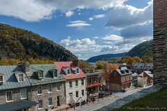 A Harper's Ferry Afternoon (Pillars of Creation Photography) Tags: street old autumn mountains west fall harpers ferry clouds vintage buildings river virginia high war foliage civil valley era potomac quaint