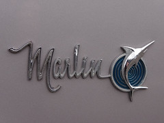 1966 AMC Marlin badge (Home Land & Sea) Tags: newzealand car emblem logo 1966 badge nz amc napier pointshoot marlin sonycybershot hawkesbay homelandsea dschx100v