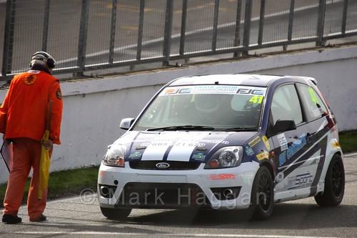 Aaron Thompson in the Fiesta Junior Championship, Brands Hatch, 2015