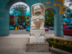 Zhong Hua Men Archway and Parking Lot (A Great Capture) Tags: china street autumn toronto ontario canada men fall beautiful statue stone architecture jack james louis chinatown photographer dale great chinese award canadian gerrard east winner lions donation to archway marble mitchell kc capture hua avenue jm gerard zhong 2012 layton broadview excellence on cheung agc a ipi ash2276 adjm conferenceexpo wwwagreatcapturecom mobilejay