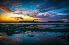 "Color the sky (aurlien.leroch) Tags: travel sunset summer sky france beach colors clouds landscape twilight nikon europe dusk award bretagne breizh britanny morbihan bzh ""flickr saintarmel d7100"