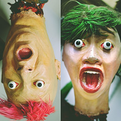 314  365  IV (Randomographer) Tags: pink two green mannequin strange mouth hair weird crazy eyes open head duo fake surreal freaky plaster odd scream 314 surprised eccentric unusual 365 madcap wacky bizarre wayout quirky prop freakish abnormal bizarro bulging zany offbeat severed peculiar outlandish unconventional unorthodox project365 outr idiosyncratic