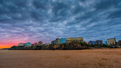 Tenby sunset (technodean2000) Tags: uk sunset west beach water wales pembroke coast sand nikon outdoor pembrokeshire lightroom seasky d610