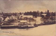 Bairnsdale wharf, Victoria - early 1900s (Aussie~mobs) Tags: bairnsdale wharf australia victoria vintage foundry township aussiemobs